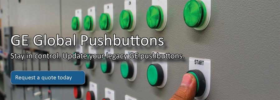 GE Global pushbuttons landing page banner