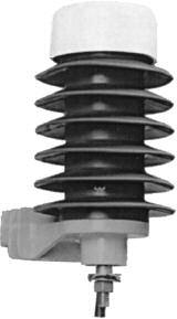 9L27HXX403AHS - GE Pole Riser Arrester, Polymer, 3 kVrms, Terminal Mounting